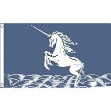 Unicorn (Blue) Flag 5Ft X 3Ft Mythology Fantasy Banner With 2 Metal Eyelets