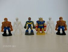Spiderman et amis chocolat oeuf Marvel mini figurines x 6