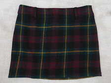 BNWoT Polo Ralph Lauren Wool Alpaca Tartan Mini Skirt  size 12 (UK 16)
