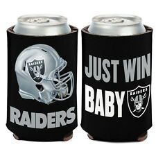 OAKLAND RAIDERS JUST WIN BABY KADDY KOOZIE CAN HOLDER NEW WINCRAFT
