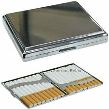 Metal Polished Double Sided CIGARETTE CASE ~ silver metal engraved design