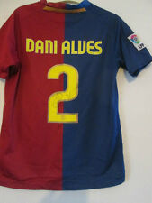 Dani Alves Signed 2008-2009 Barcelona Home Football Shirt with COA