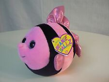 "Ty Beanie Ballz GILLY New with Tags PINK BLACK FISH Plush 5"" size EVERYDAY GIFT"