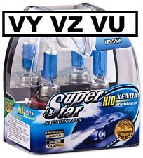 VY VZ Xenon HID 5000K Look Headlight Bulbs High Low Fog Berlina Calais SS Ute