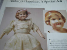 2pg Amberg HAPPINUS MAGAZINE  Doll Article / A SPECIAL DOLL  ~Ursula Mertz