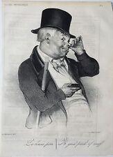 Lithographie de Honoré Daumier parue dans le Charivari 1837