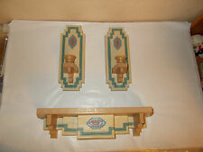 3 PC Home Interiors & Gifts Burwood Southwest Old Mexico Shelf Candle Wall Decor
