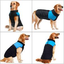 Large Pet Dog Clothes Winter Warm Padded Coat Pet Vest Jacket Size XL Blue