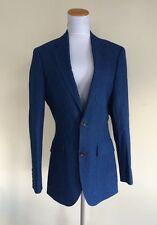 $358 NWT Jcrew Men 36R LUDLOW Suit Jacket Japanese Houndstooth Cotton Blue
