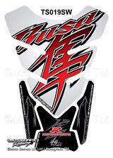 Suzuki Hayabusa GSX1300R White Motorcycle Tank Pad Motografix 3D Gel Protector