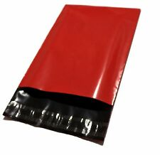 20 Poly Mailers Envelope Shipping Supply Bags 10x13'' Red Color