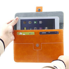 Premium Leather Briefcase Pouch Sleeve Bag Case For Most 7.9 - 8 inch Tablet PC