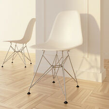 ( set of 2 ) mid century modern DSR dining side chair metal base
