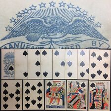 19th Century Authentic Gamblers Saloon American Playing Cards Wild West Deck