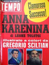 TEMPO n°17 1967 Inserto Anna Karenina - Brigitte Bardot conquista Roma  [C55]