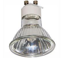 GU10 halógena lámpara bombilla 50w Larga Vida Aluminio Reflector Pack De 10 Nuevo