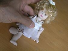 """Beautiful Antique Bisque Porcelain Shirley Temple Ballerina Doll For Parts 7"""""""