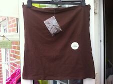 BNWT - F&F BROWN COTTON TOP WITH DETACHABLE STRAPS - SIZE 18