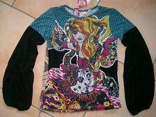 (813) Nolita Pocket Girls Materialmix Shirt + Mädchen Besatz & Logo Druck gr.140