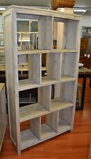 Rustic Mango Fruit Wood  bookcase bookshelf Storage oak elm zig zag