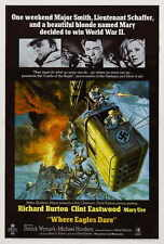 "WHERE EAGLES DARE Movie Poster [Licensed-New] 27x40"" Theater Size Eastwood (B)"