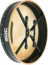 BODHRAN DRUM Irish Celtic 18 Inch Drums + CASE + 2 Tippers GREEN 001