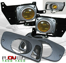1992-1995 Honda Civic Coupe Hatchback Front Bumper Fog Light Lamp Yellow Len