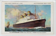 T.S.S. STATENDAM: Holland-America Line shipping postcard (C17067)