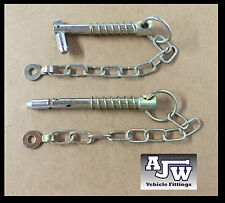2 X Sword Pin and Chain 12.5mm x 88mm (Trailer Parts Cotter Linch Pin Lynch Pin)