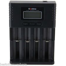 Soshine H4 Li-ion NiCd NiMh LCD Digital Intelligent 4-Slot Battery Charger with