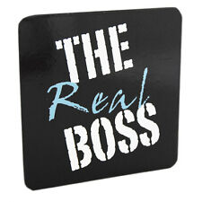 Drink Coaster Real Boss Black Design Tea Coffee Mat Novelty Table Ware