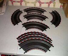 CARRERA  GO 1:43 LOT OF 10 CURVED SLOT CAR TRACKS-NM-FROM SET BREAK