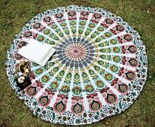 Hippie Indian Ombre Mandala Round Beach Roundie Throw Tapestry Yoga Mat Bohemian
