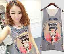 New Sweet Women Girls Chiffon Sleeveless Shirt Casual Cami Tank Vest Tops Blouse