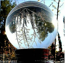HOT!WHOLESALE*HUGE ASIAN QUARTZ CLEAR CRYSTAL BALL SPHERE 80MM + STAND
