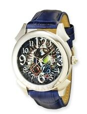 Men's Ed Hardy Blue Revolution Tattoo Designer Watch (New)