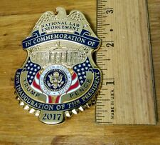 2017 National Law Enforcement Trump Pence  Inauguration Badge