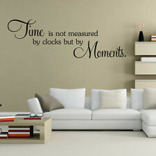 Time Quote Words Mural Removable Wall Sticker DIY Art Vinyl Decal Home Decor