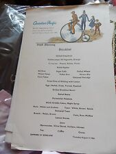 VINTAGE EMPRESS OF ENGLAND CANADIAN PACIFIC BREAKFAST  MENU AUGUST 1 1966