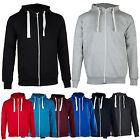 New Mens Plain Zip Fleece Hoodie Hooded Hoody Top Jacket BIG Size S M L XL XXL