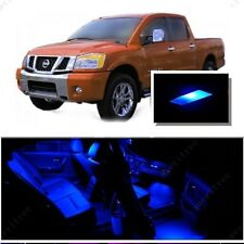 For Nissan Titan 2004-2014 Blue LED Interior Kit + Blue License Light LED