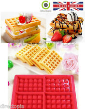 4 Waffle Silicone Mould Muffin Pans Baking Cake Mold Tray Waffle Kitchen Tool