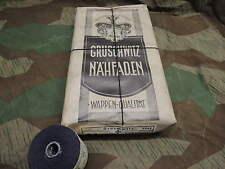 WW2 WH 3 ROLLEN  50g SCHWARZ NÄHMASCHINENZWIRN NÄHFADEN LEINENZWIRN UNIFORM 1943