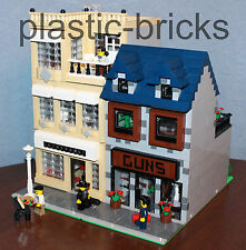 LAUNDROMAT & GUN STORE Custom Instruction Manual_10182_10185_Like Modular_LEGO