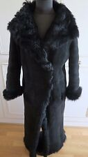 Joseph sheepskin shearling black jacket Toscana lambskin fur coat M UK12EU40US8