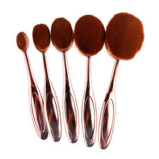 10x Oval Makeup Brushes Set Eyebrow Lip Face Powder Foundation Toothbrush Shape