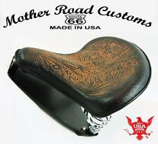2015-2017 Indian Scout Spring Tractor Seat 15x14 Ant Brn Tooled Mount Kit USAcs