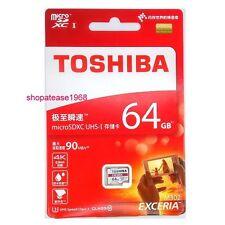 Toshiba Exceria Micro SD SDHC SDXD 64G 64GB 64 G GB 90MB/s UHS U3 Class 10 4K