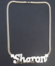 3D Name Pendant and Chain  Jewellers Bronze Dipped in 9 or 18 ct Gold 68g