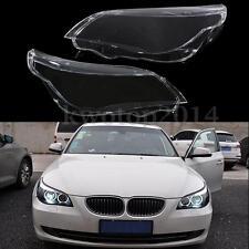2Pcs Lampcover Headlight Cover Lampshade For BMW 5 E60 E61 525i 530i 540i 550i